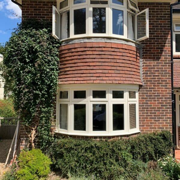 Accoya timber flush casement bay windows