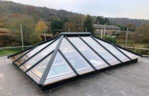 Oak timber roof Lantern skylight window